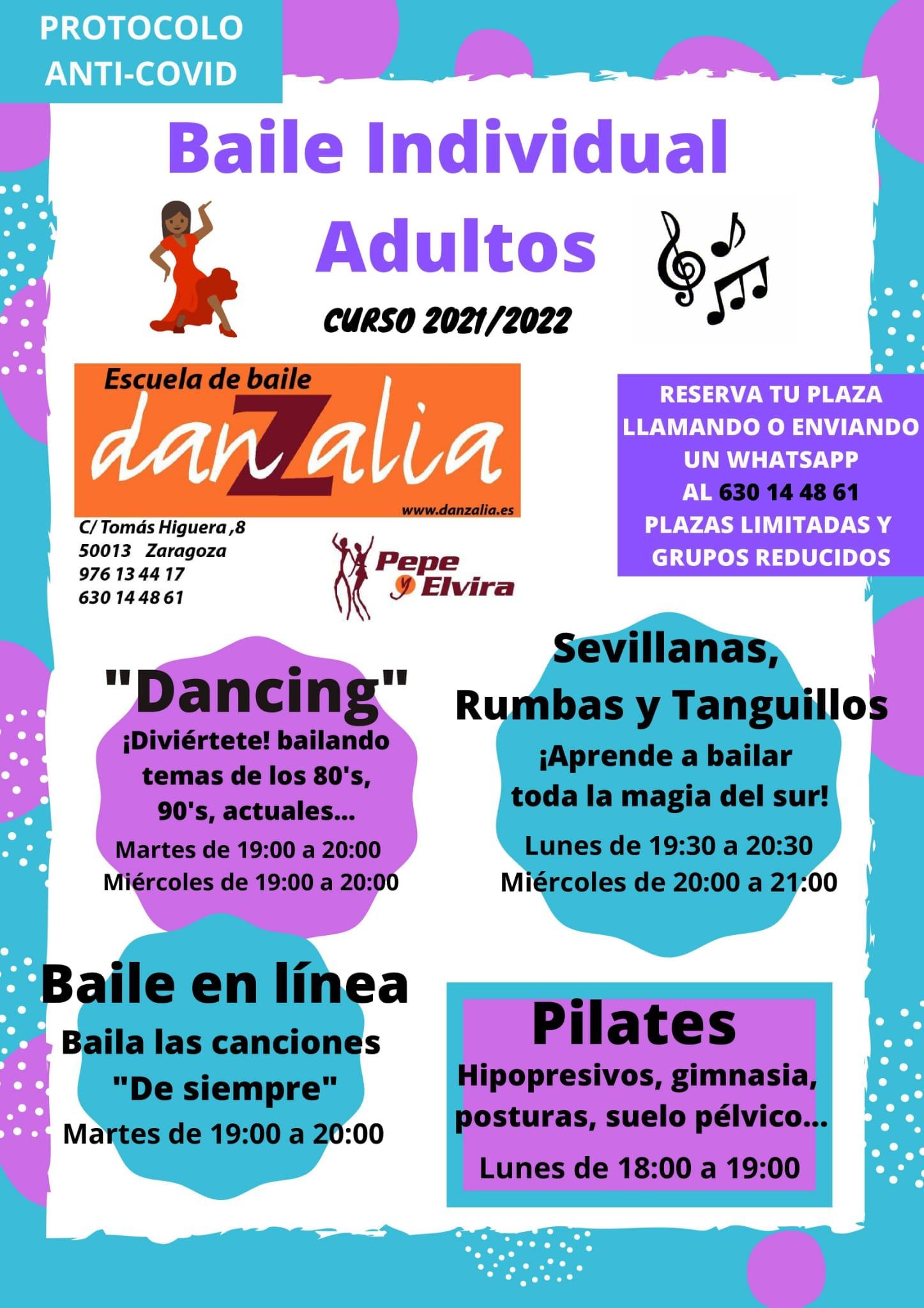 Danzalia bailes individuales adultos